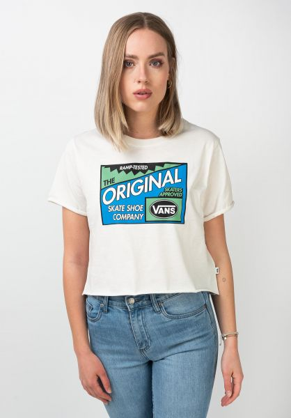 Vans T-Shirts Ramp Tested Roll Out marshmallow vorderansicht 0321462