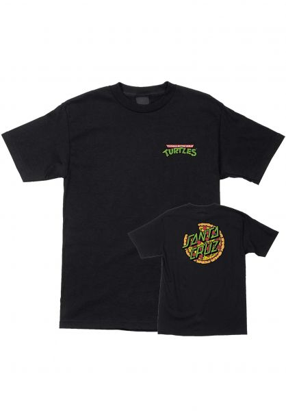 Santa-Cruz T-Shirts TMNT Pizza Dot black vorderansicht 0399648