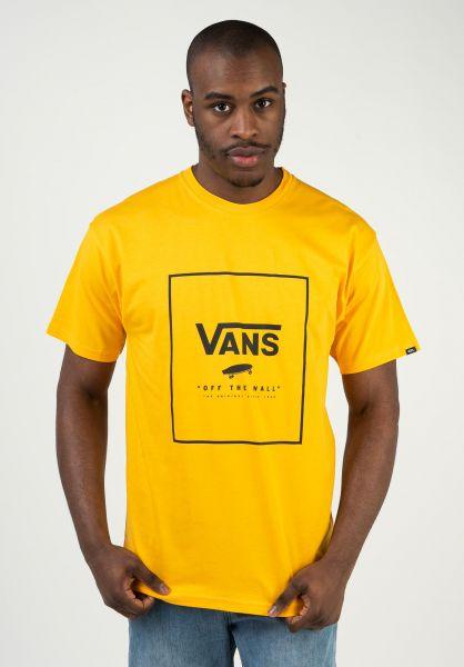 Vans T-Shirts Print Box saffron-black vorderansicht 0397887