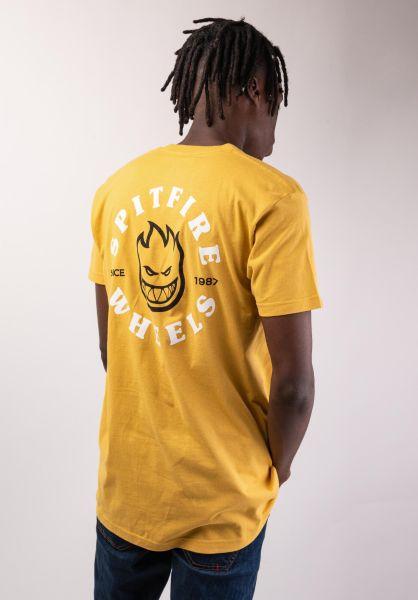 fba8db4ae4 Spitfire T-Shirts Bighead Classic mustard vorderansicht 0383201