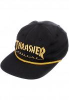 Thrasher Caps Rope Snapback black Vorderansicht