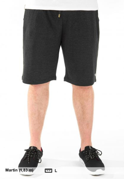 TITUS Sweatshorts Sweat Short darkgreymottled Vorderansicht