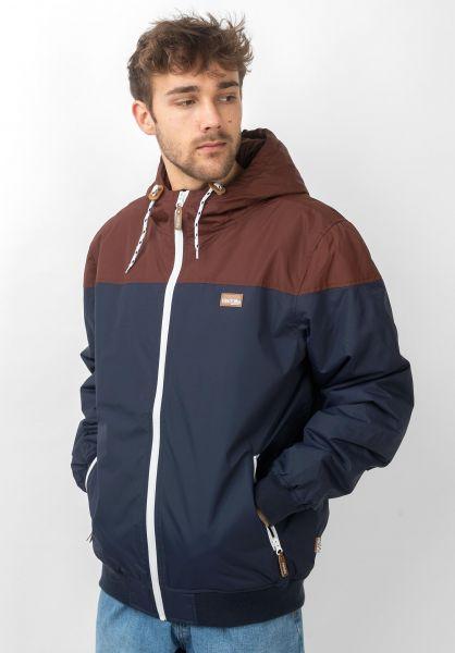 iriedaily Winterjacken Insulaner Jacket darkrum vorderansicht 0503441