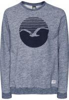 Cleptomanicx Sweatshirts und Pullover Vintage Print vintageblue Vorderansicht
