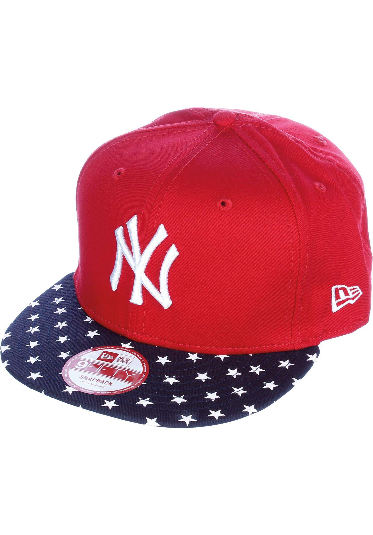d2706a8b88aff 9Fifty Stars   Stripes New York Yankees New Era Caps in red-navy-white for  Men