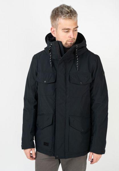 Reell Winterjacken Field Jacket 2 black vorderansicht 0250031