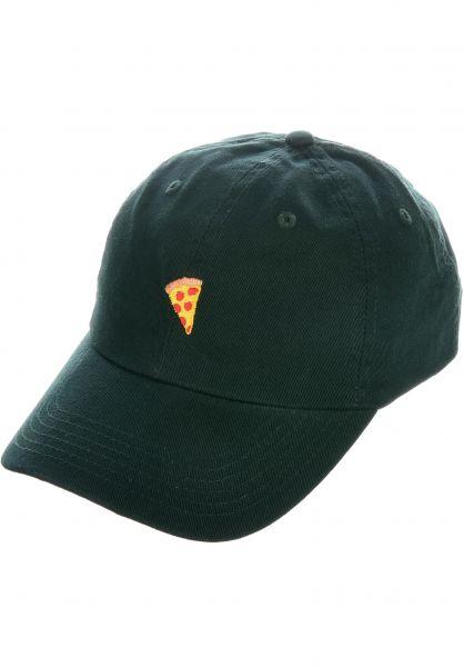 Pizza Skateboards Caps Emoji Dad Hat green vorderansicht 0566034