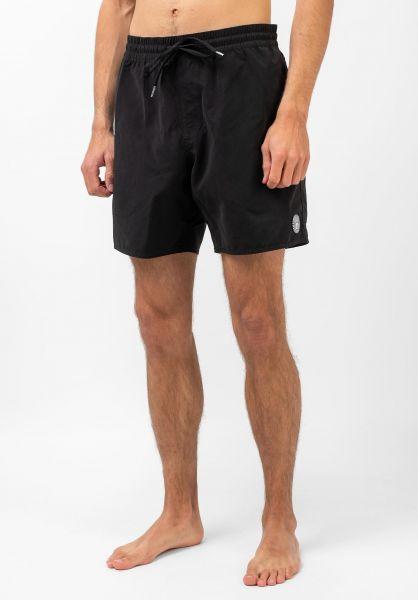 Volcom Beachwear Lido Solid Trunk 16´´ black vorderansicht 0205379