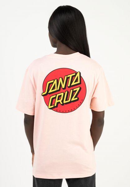 Santa-Cruz T-Shirts Classic Dot blossom vorderansicht 0397010