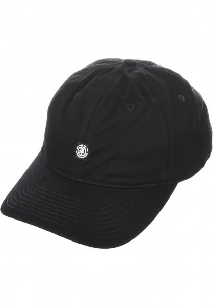 Element Caps Fluky Dad Hat Cap allblack Vorderansicht