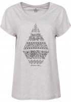 Volcom T-Shirts Stone Daze heather-grey Vorderansicht
