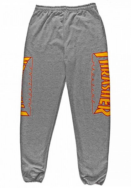 Thrasher Jogginghosen Flame darkheather-oneoff vorderansicht 0680178