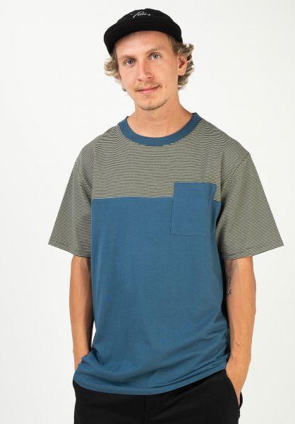 TITUS T-Shirts Jakow stellar-nutria-striped vorderansicht 0320931