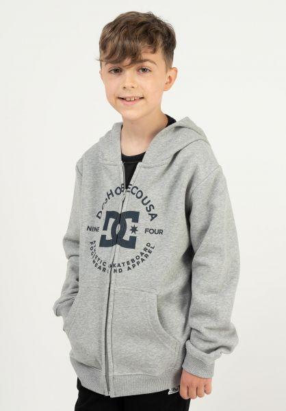 DC Shoes Zip-Hoodies Star Pilot Kids heathergrey vorderansicht 0454871