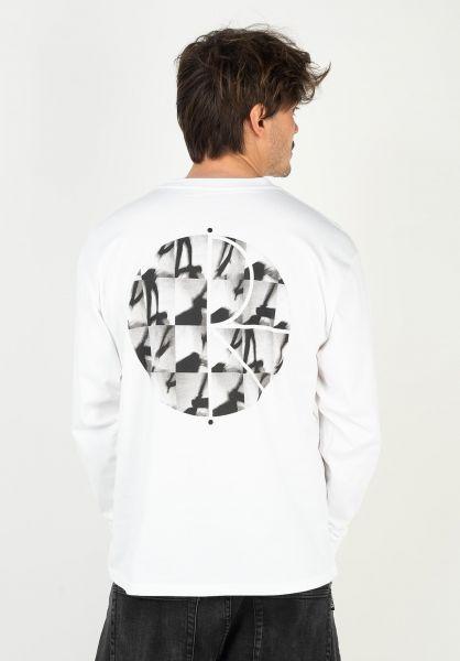 Polar Skate Co Longsleeves Sequence Fill Logo white vorderansicht 0323223