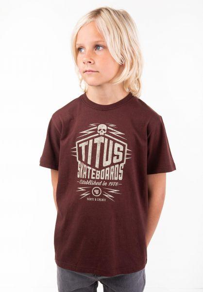 TITUS T-Shirts Skate & Create Kids deepburgundy vorderansicht 0397388