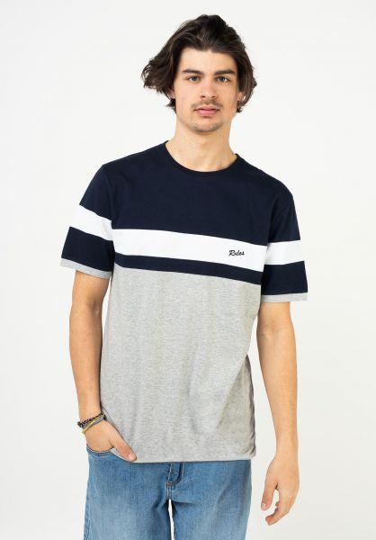 Rules T-Shirts Enno grey-blue vorderansicht 0320947