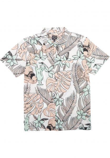 Dark Seas Hemden kurzarm Cranston pink-green vorderansicht 0401013