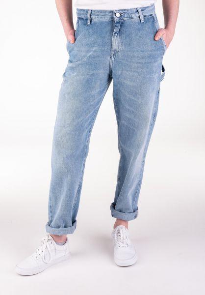 Carhartt WIP Jeans W' Pierce Pant blue-lightstonewashed vorderansicht 0269046