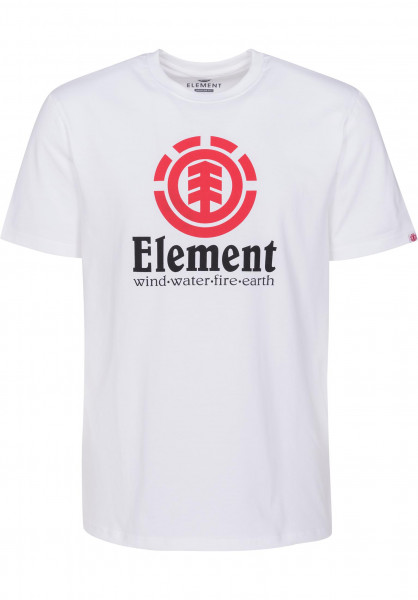 Element T-Shirts Vertical opticwhite Vorderansicht