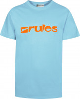 Rules T-Shirts Basic lightblue-orange Vorderansicht