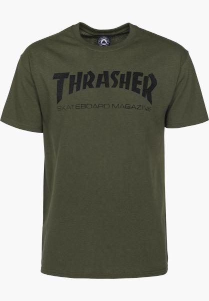 Thrasher T-Shirts Skate-Mag army vorderansicht 0038081