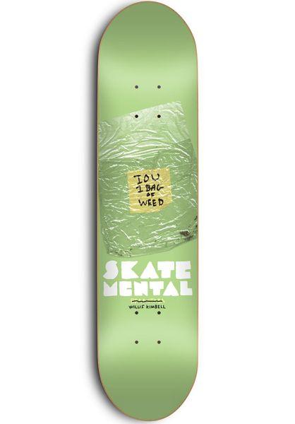 Skate-Mental Skateboard Decks I.O.U. green vorderansicht 0119512