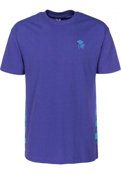 The Quiet Life T-Shirts Checker T purple Vorderansicht