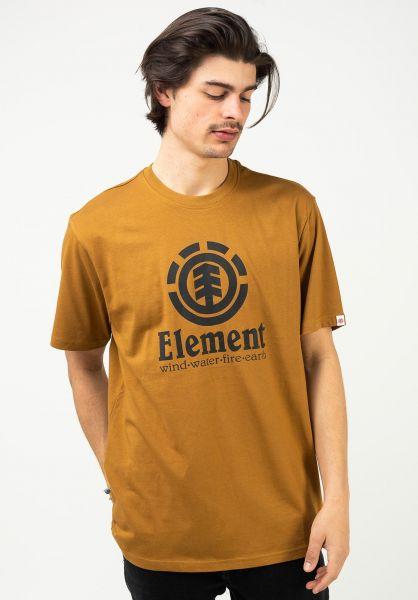 Element T-Shirts Vertical goldbrown vorderansicht 0361652
