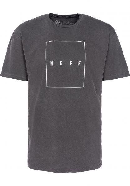 Neff T-Shirts Quad Pigment black vorderansicht 0398117