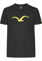 Cleptomanicx T-Shirts Möwe heatherblack Vorderansicht