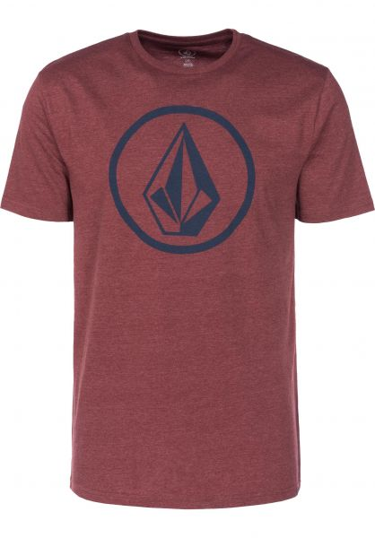 volcom t shirt  Circle Stone Heather Volcom T-shirt in crimson da Uomo | Titus