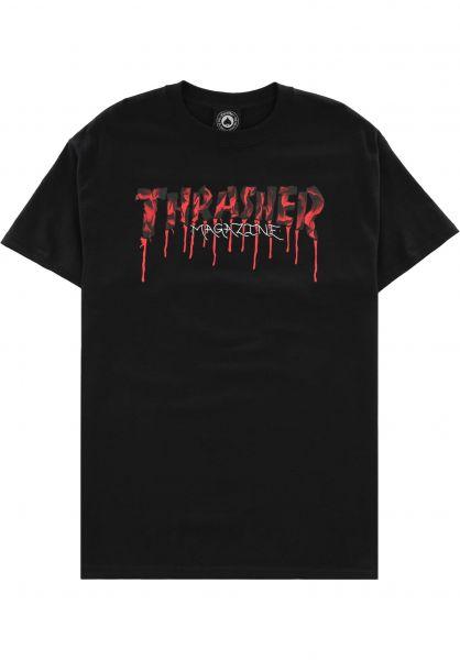 Thrasher T-Shirts Blood Drip black vorderansicht 0324222