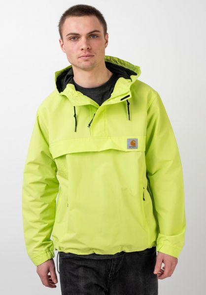 Carhartt WIP Windbreaker Nimbus Pullover lime vorderansicht 0122037