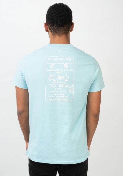 DC Shoes T-Shirts Taco Tuesday crystal-blue vorderansicht 0321213