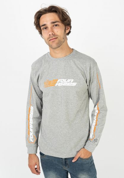 Fourasses Longsleeves SK8 grey vorderansicht 0383862