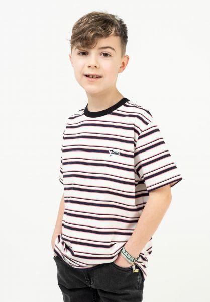 TITUS T-Shirts Koa Kids white-striped vorderansicht 0322073