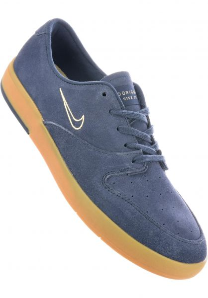 Nike SB Alle Schuhe Zoom P-Rod X thunderblue-lemonwash Vorderansicht