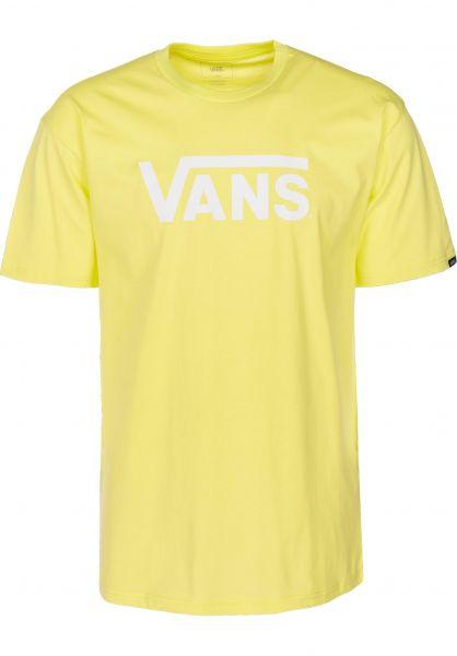 Vans T-Shirts Classic sunnylime-white vorderansicht 0361788
