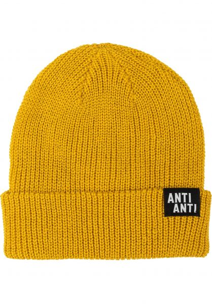 Rebel Rockers Mützen Anti Anti yellow vorderansicht 0572602