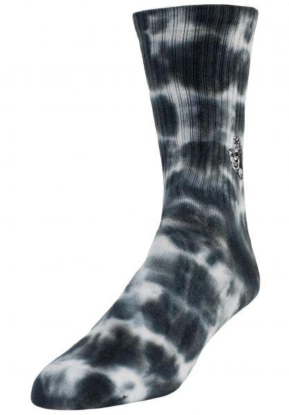 Santa-Cruz Socken Mini Mono Hand Tie Dye black-spiral vorderansicht 0632308