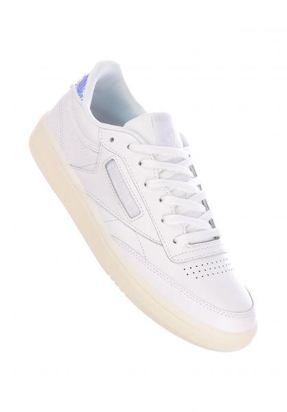 Reebok Alle Schuhe Club C 85 wow-white-truegrey vorderansicht 0612485
