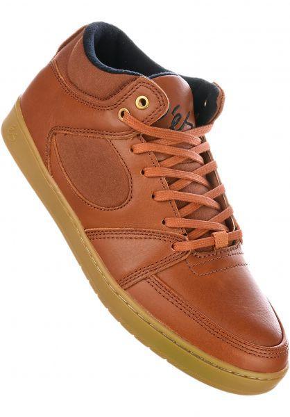 ES Alle Schuhe Accel Slim Mid brown-gum-gold Vorderansicht