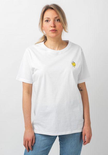 Cleptomanicx T-Shirts Zitrone white vorderansicht 0321092
