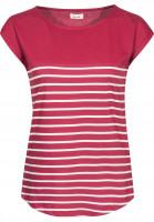Forvert-T-Shirts-Newport-red-beige-Vorderansicht