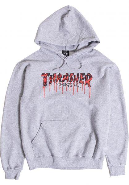 Thrasher Hoodies Blood Drip ash vorderansicht 0446528