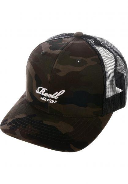 Reell Caps Curved Trucker camouflage Vorderansicht