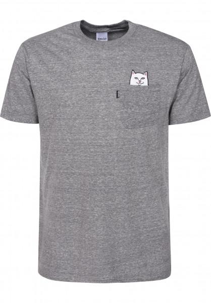 5fa9e96b19 Rip N Dip T-Shirts Lord Nermal Pocket grey Vorderansicht