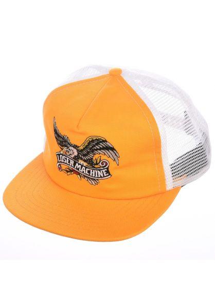 Loser-Machine Caps Poway gold-white vorderansicht 0566238