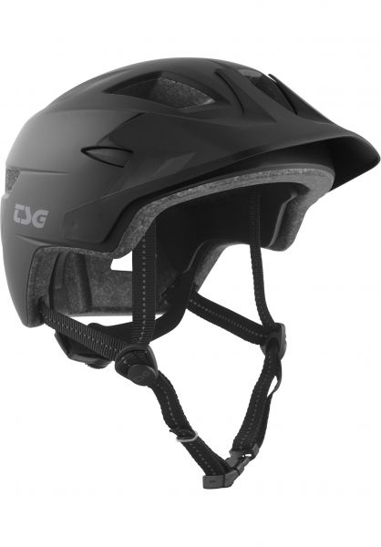 TSG Kinder-Helme Cadete Solid Color satin black Vorderansicht
